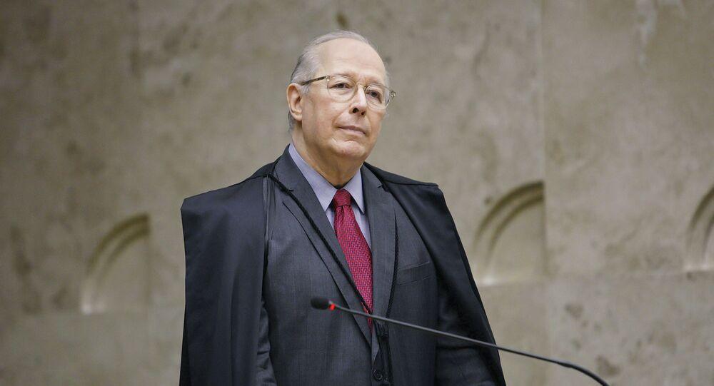 Ministro Celso de Mello durante sessão do STF.