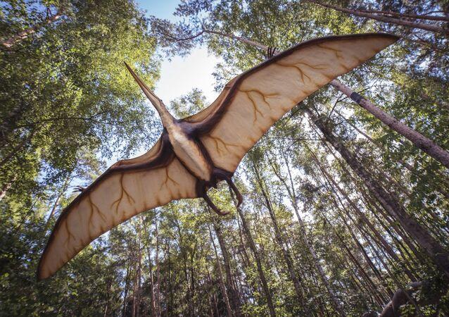 Imagem artística de pterossauro