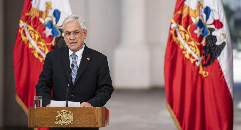 O presidente chileno Sebastián Piñera