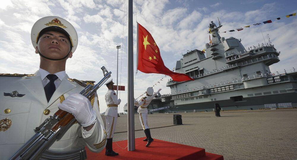 Cerimônia de comissionamento do porta-aviões chinês Shandong