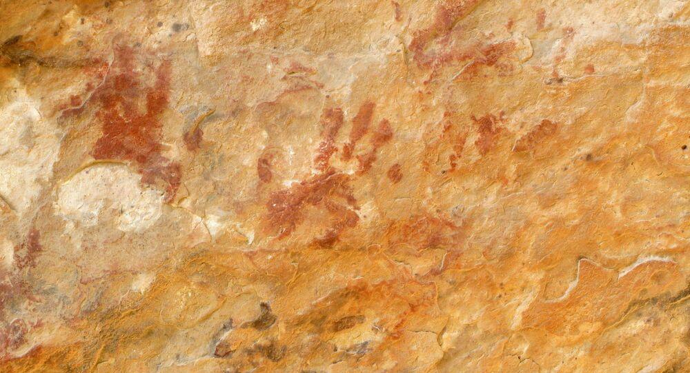 Arte rupestre (foto de arquivo)