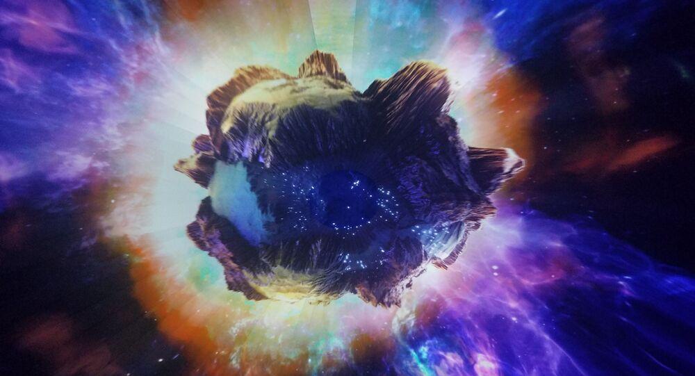 Impressão arística de asteroide