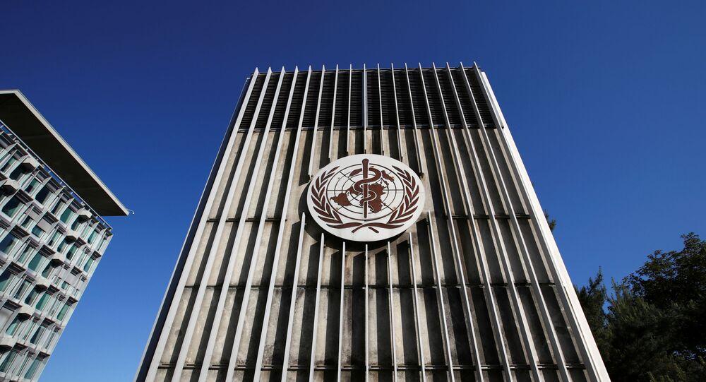 Sede da Organização Mundial da Saúde, em Genebra, na Suíça.