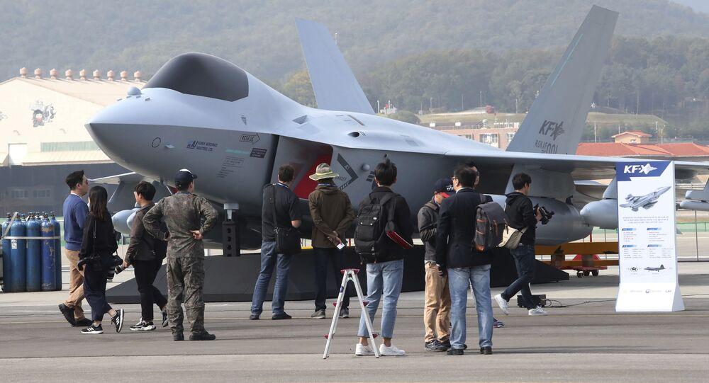 Reprodução do caça KF-X da Coreia do Sul