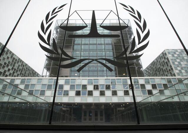 Entrada do Tribunal Penal Internacional, em Haia, na Holanda (arquivo)