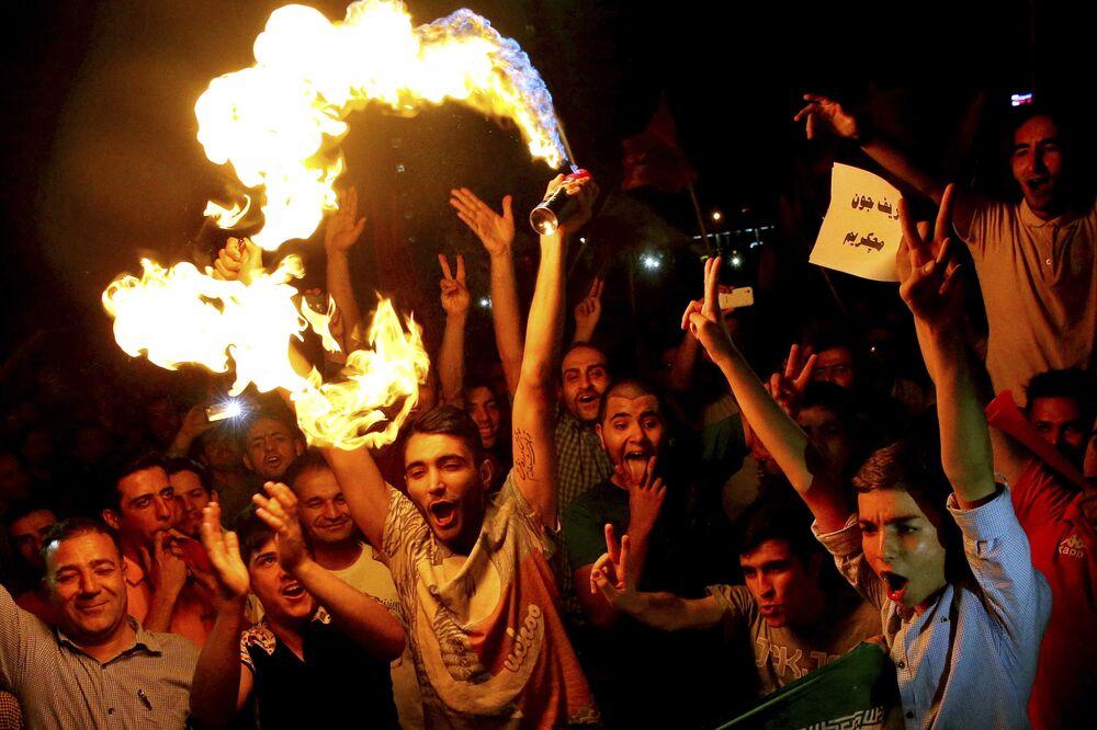 Teerã comemora acordo nuclear