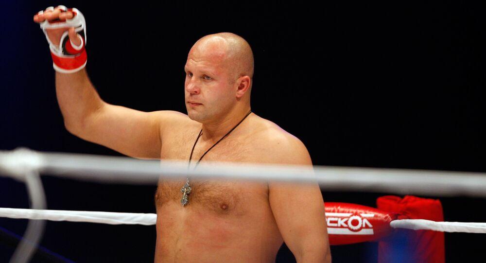 Fedor Emelianenko, lutador russo do MMA.