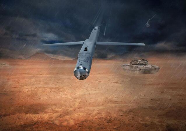 Bomba Raytheon GBU-53 StormBreaker, também conhecida como Bomba de Pequeno Diâmetro II (SDB) (ilustração gráfica)