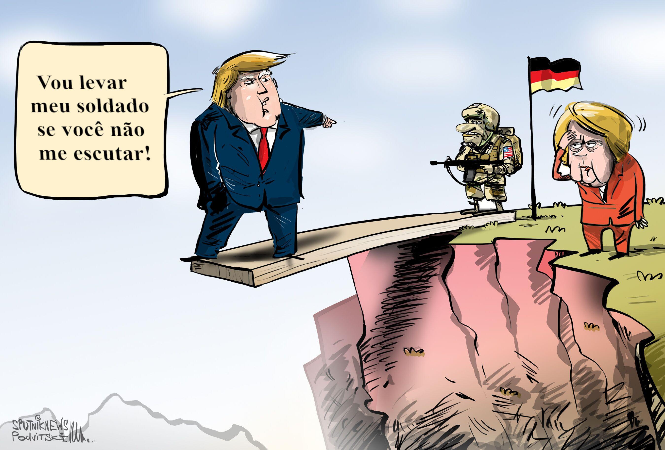 Trump pirraçando sem Alemanha se importar