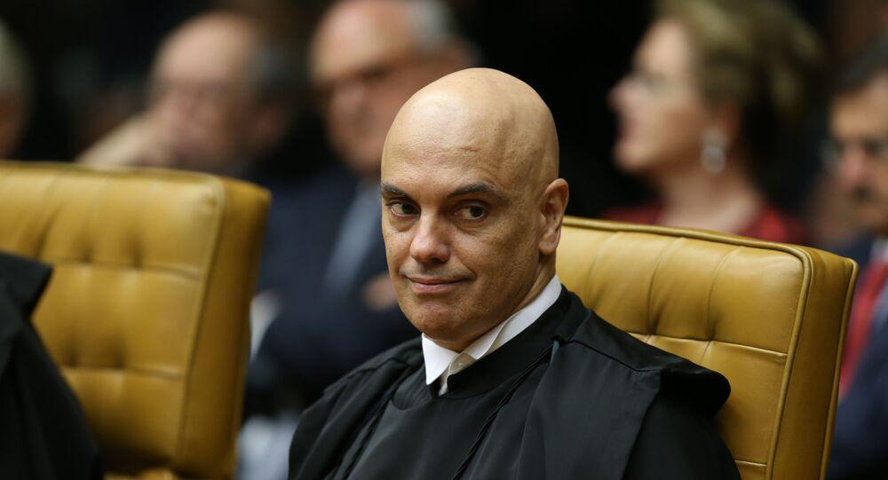 O ministro do STF  Alexandre de Moraes durante solenidade de posse do novo presidente do Supremo Tribunal Federal (STF), ministro Dias Toffoli