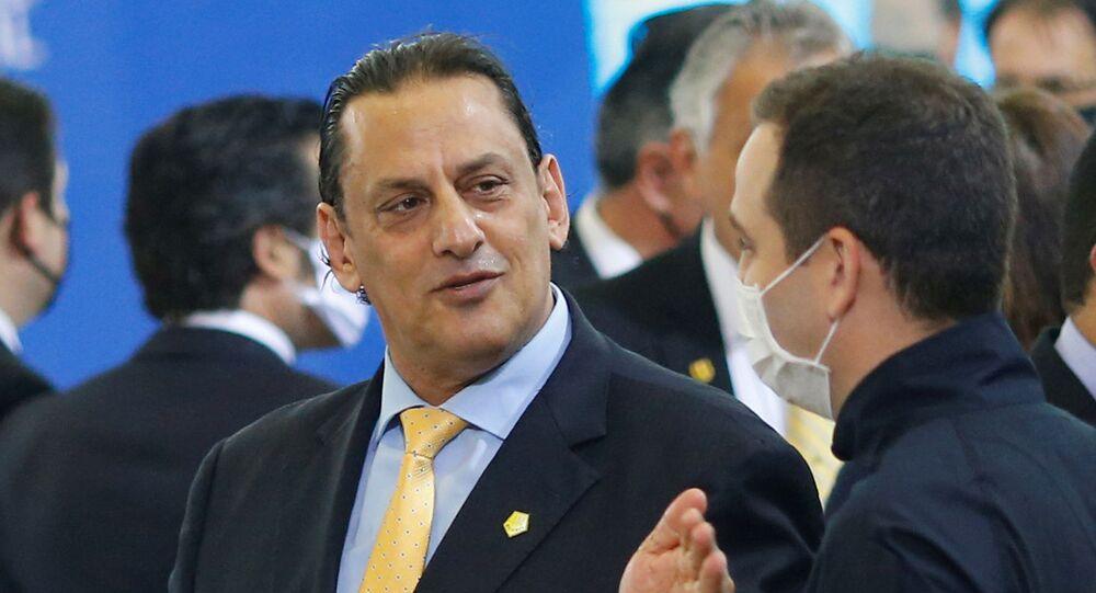 O advogado Frederick Wassef, ligado à família Bolsonaro, durante cerimônia de posse no Palácio do Planalto.