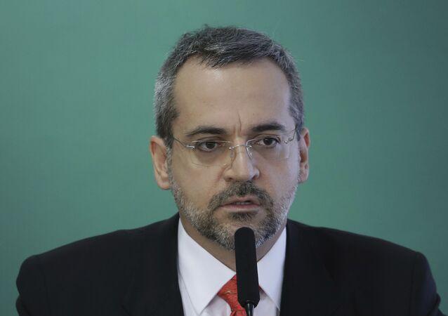 Ex-ministro da Educação, Abraham Weintraub, durante cerimônia no Palácio do Planalto.