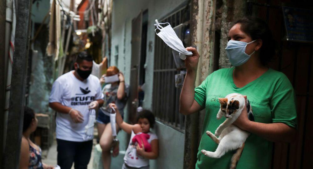 Favela de Heliópolis, São Paulo, Brasil, 18 de junho de 2020