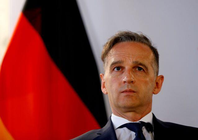 Ministro das Relações Exteriores da Alemanha, Heiko Maas, durante encontro em Viena, na Áustria