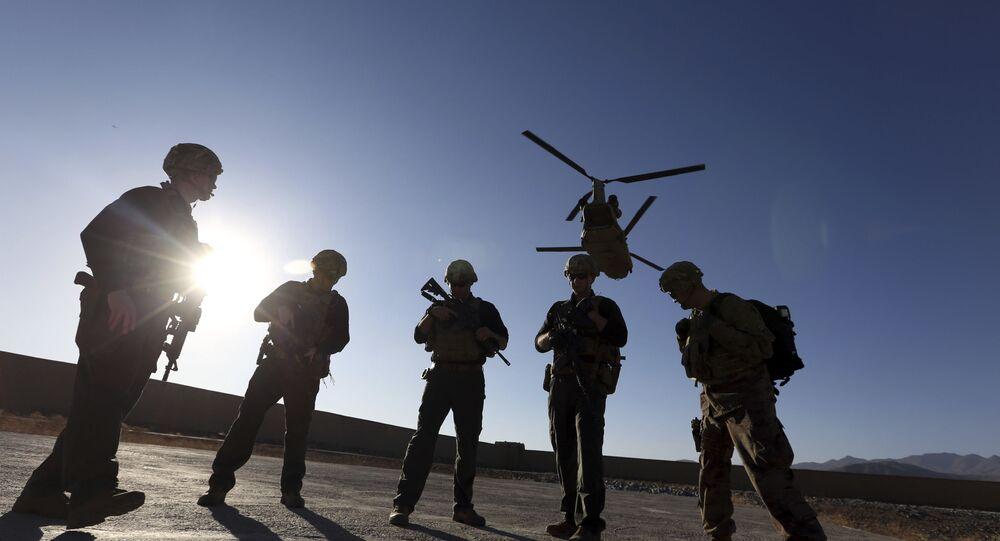 Soldados dos Estados Unidos na província de Logar, no Afeganistão