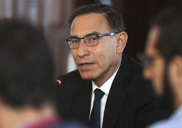 Martín Vizcarra, presidente do Peru.