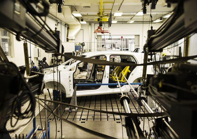 Instalações do Laboratório de Segurança Veicular Volkswagen Brasil, na fábrica de São Bernardo do Campo (SP) (foto de arquivo)