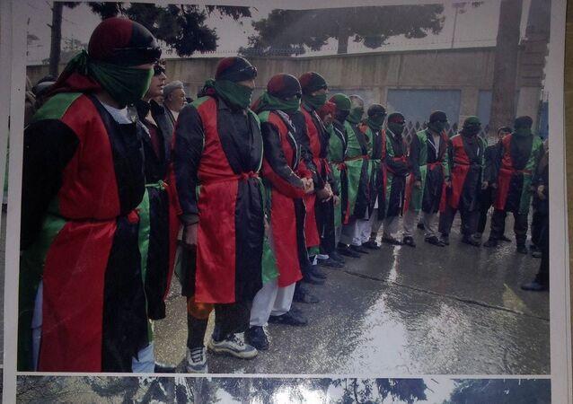 Membros do movimento 'Morte ao EI e aos terroristas', Afeganistão