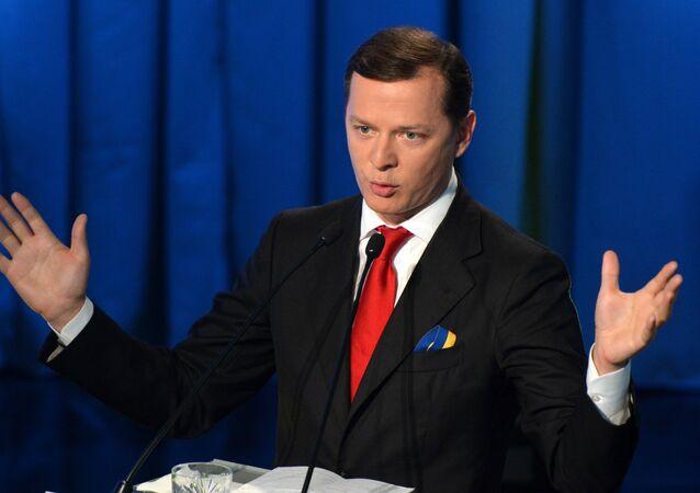 Deputado ucraniano Oleg Lyashko em Kiev