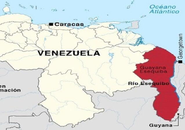 Território de Essequibo - área sob disputa entre Guiana e Venezuela