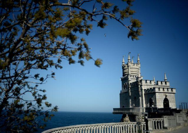 Castelo Lastochkino Gnezdo (Ninho de Andorinhas) na Crimeia