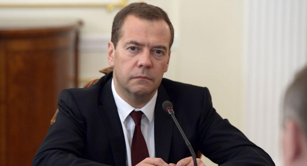 Dmitry Medvedev. Foto de arquivo