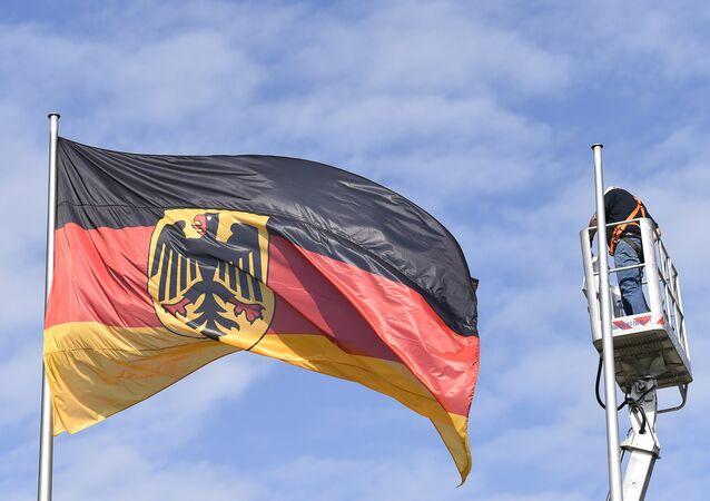Bandeira Federal da Alemanha em Berlim