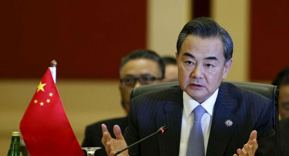 Chanceler chinês, Wang Yi, em encontro da Associação de Nações do Sudeste Asiático (ASEAN), em Kuala Lumpur.