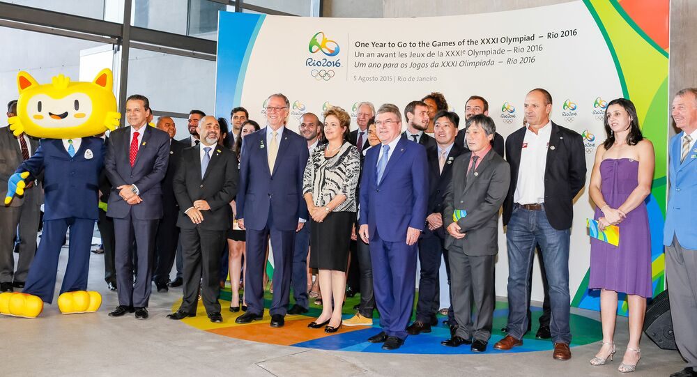 Dilma Rousseff durante celebração de 1 ano para os Jogos Olímpicos Rio 2016