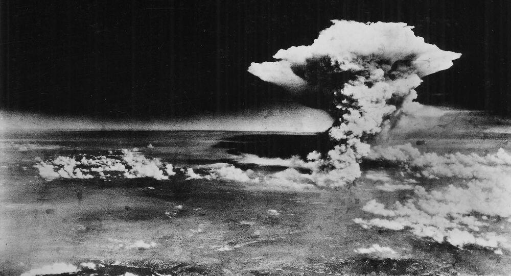 Explosão de bomba nuclear em Hiroshima, em 6 de agosto de 1945. Foto de arquivo