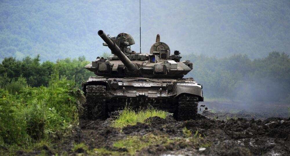 Tanque russo na Ossétia do Sul (foto de arquivo)