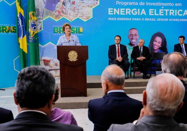 A presidenta do Brasil, Dilma Rousseff, durante lançamento do Programa de Investimento em Energia Elétrica