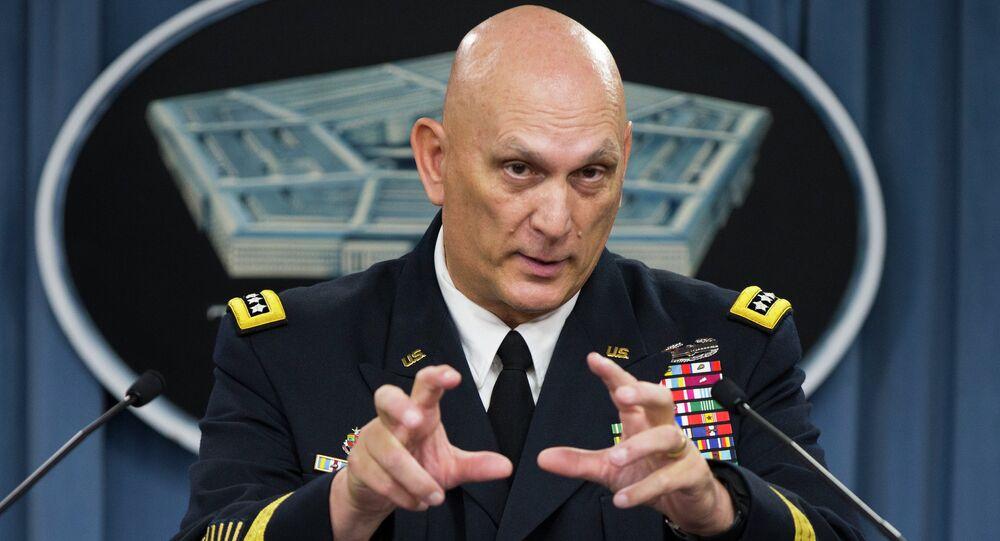 O chefe do Estado Maior do Exército dos EUA, general Raymond Odierno, a ponto de ser reformado