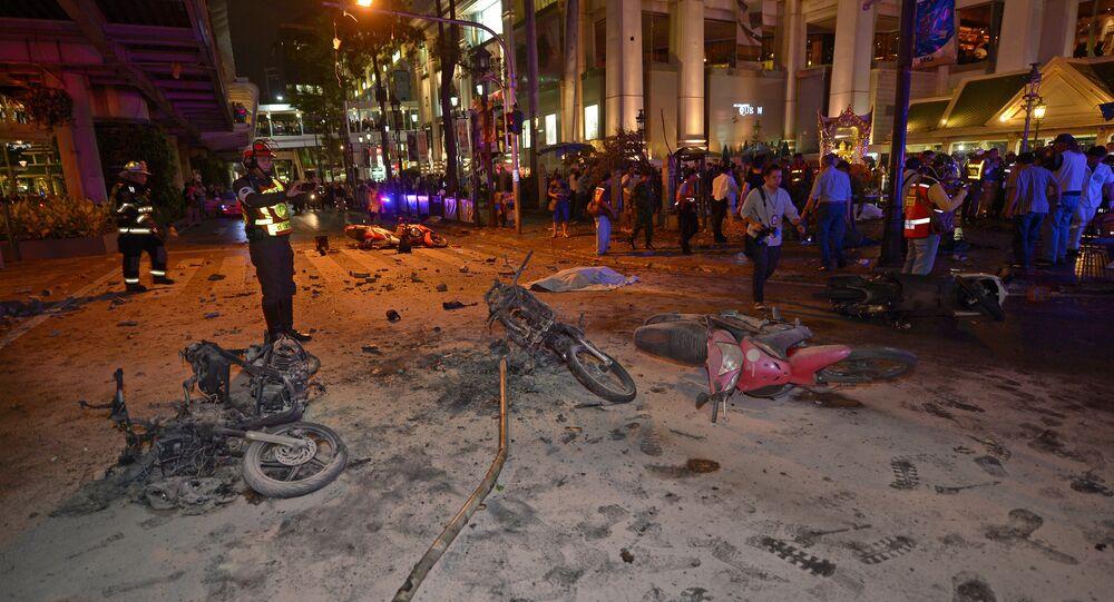 Explosão perto do Santuário Erawan, em Bangcoc