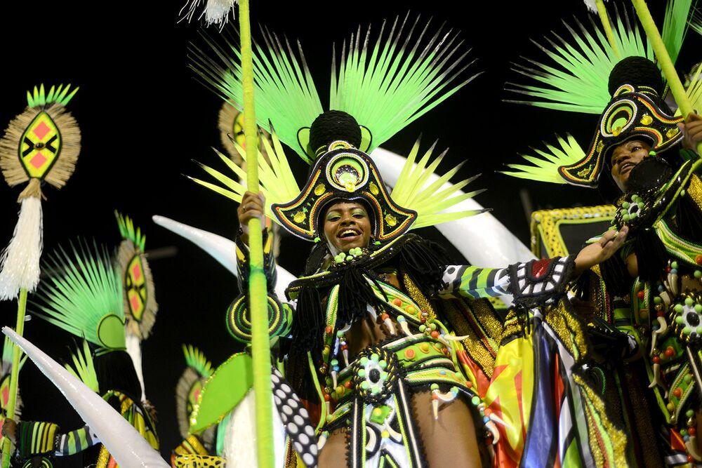 África deu cores ao desfile da Imperatriz Leopoldinense
