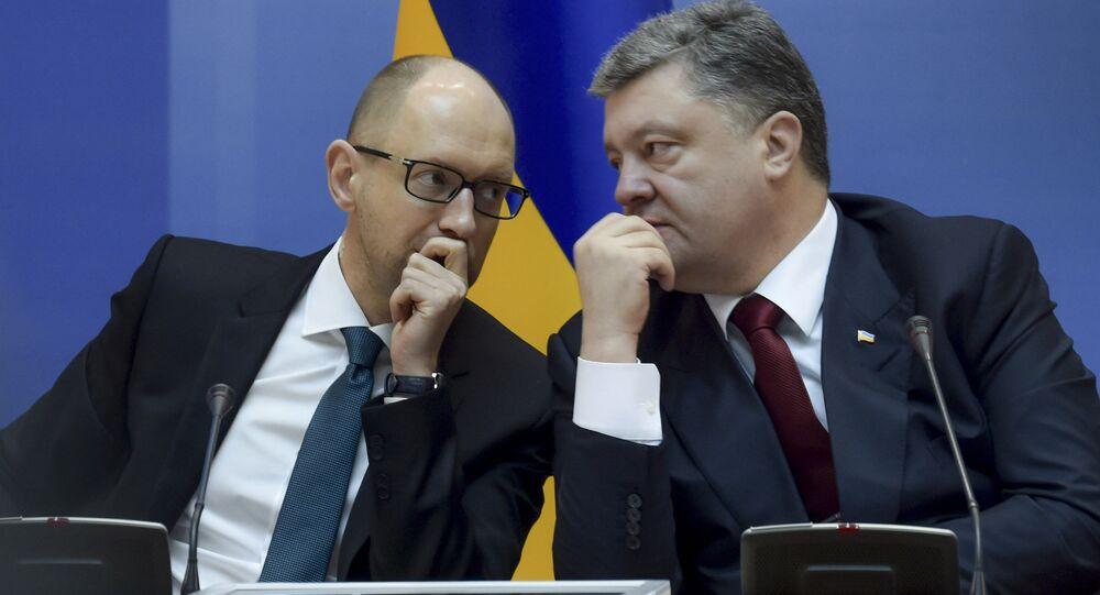 Pyotr Poroshenko e Arseni Yatsenyuk