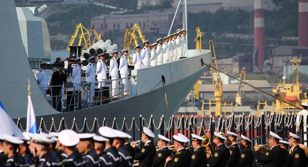 Exercícios navais russo-chineses 'Cooperação Marítima (arquivo)