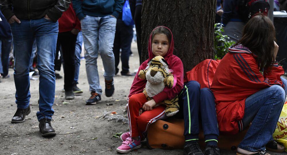 Uma criança imigrante