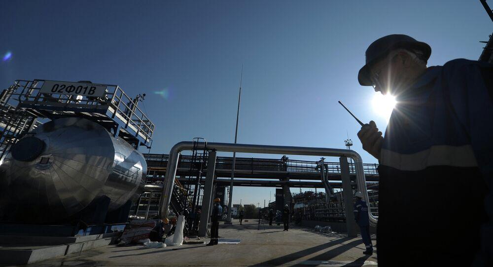 Refinaria da Gazprom em Moscow