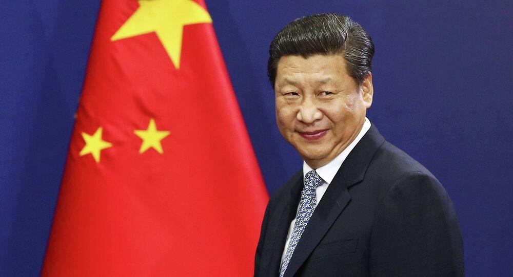 Presidente da China, Xi Jinping, durante um discurso na Coreia do Sul, em 2014