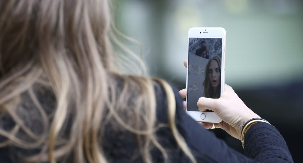 Selfie no smartphone