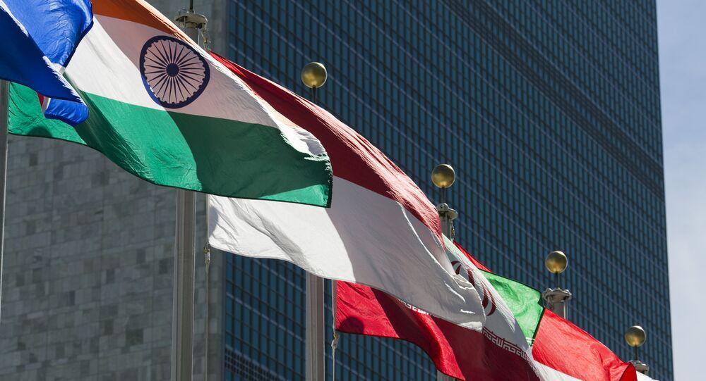 Bandeiras na sede das Nações Unidas, em Nova York