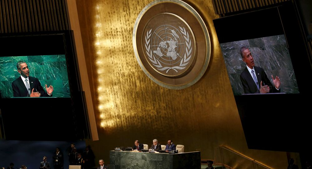 Barack Obama durante Assembleia Geral da ONU