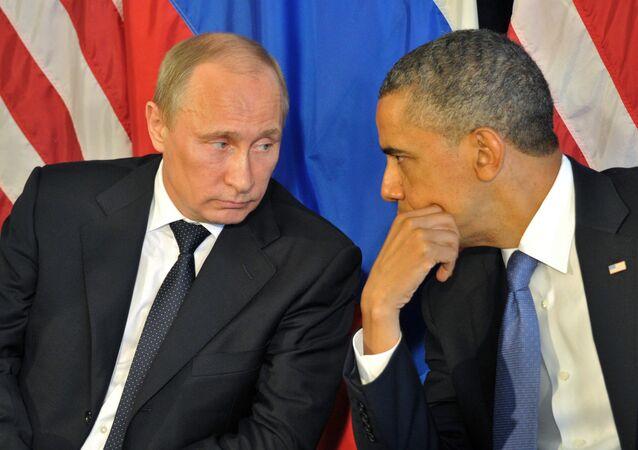 Presidente da Rússia, Vladimir Putin, e presidente dos EUA, Barack Obama