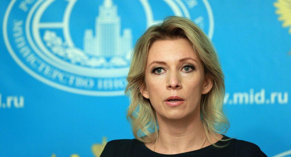 Representante oficial da chancelaria russa, Maria Zakharova