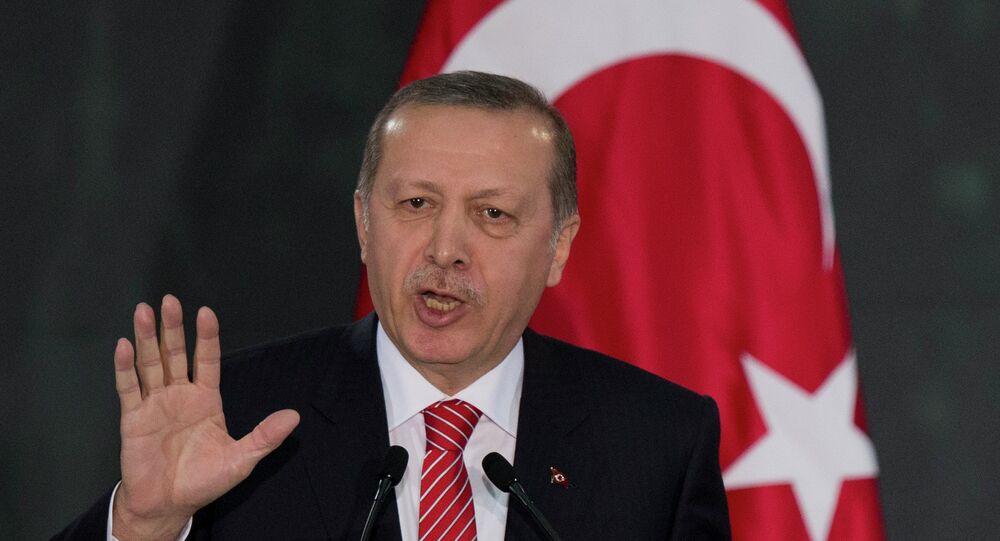 Presidente da Turquia Recep Tayyip Erdogan