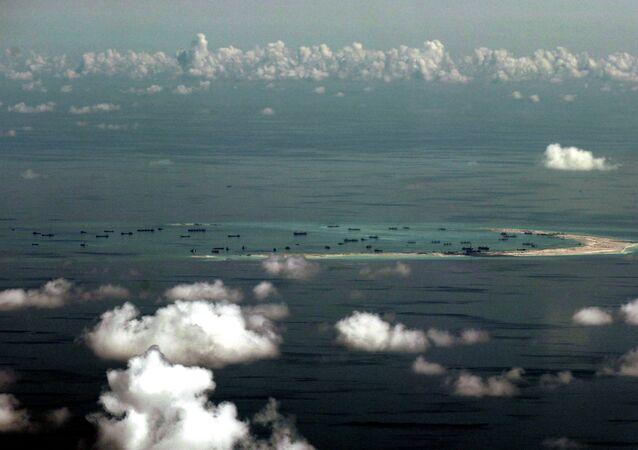 Ilhas Spratly no mar da China Meridional