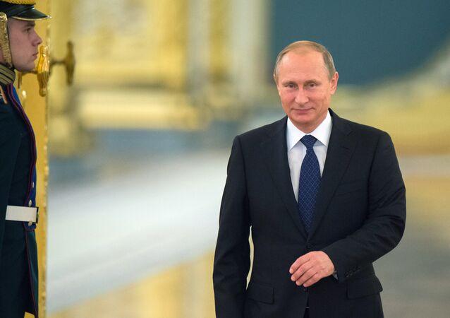 Presidente russo Vladimir Putin em encontro do Conselho pela Sociedade Civil e Direitos Humanos