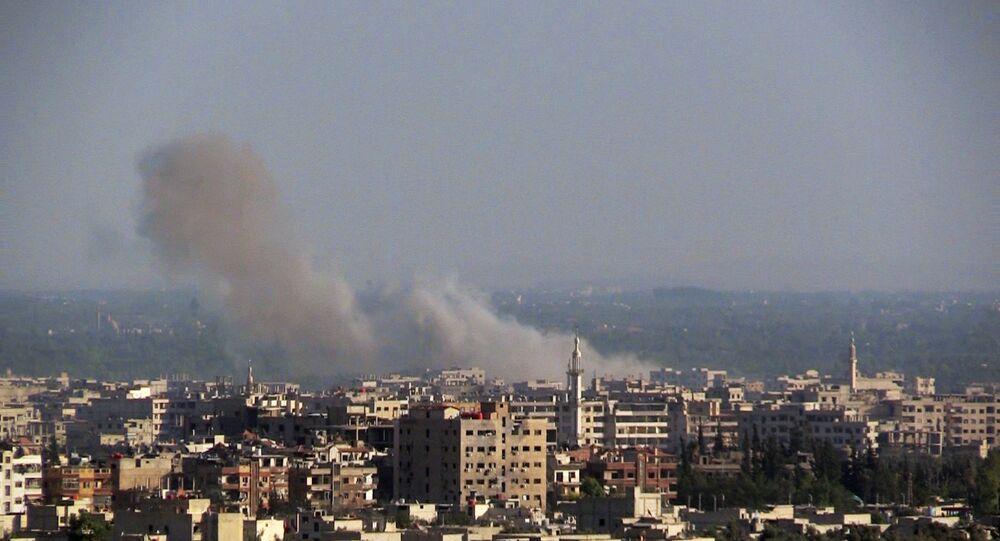 Ações militares perto de Damasco