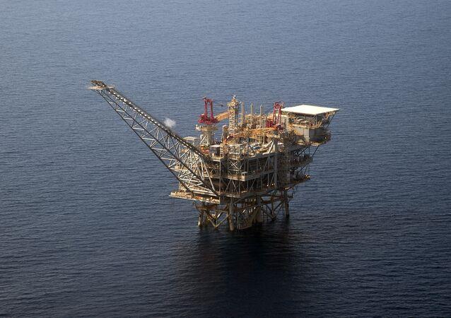 Plataforma de perfuração de gás